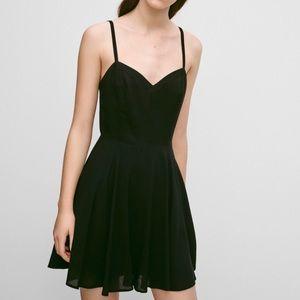 Talula Lipinski Mini Black Drop Waist Flowy Dress
